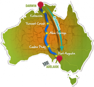 Darwin to Adelaide road trip