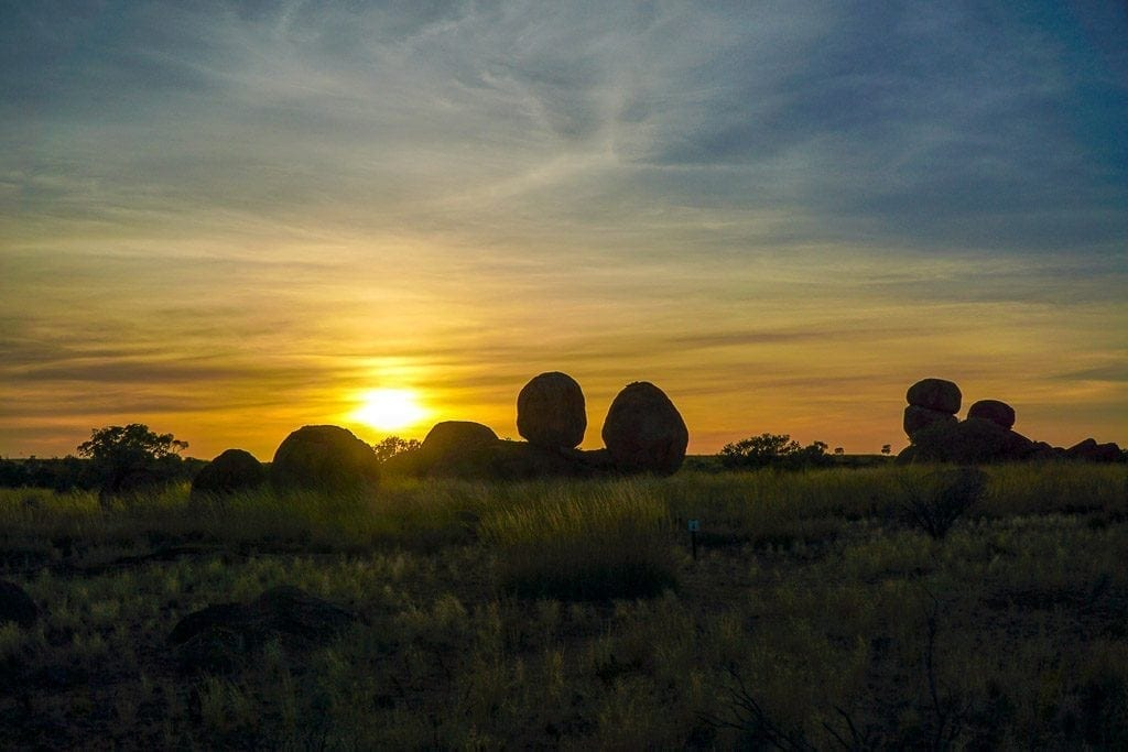 Sunrise at the Devils Marbles