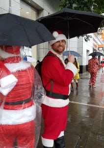 Smiling Santa at SantaCon in SanFrancisco