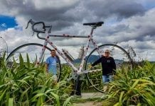Giant Bike in Taupo central New Zealand